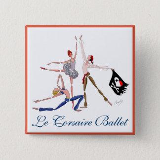 BALLET Le CORSAIRE, PIRATEs BALLERINA MAGNET 15 Cm Square Badge