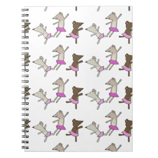 Ballet Mice Spiral Notebook