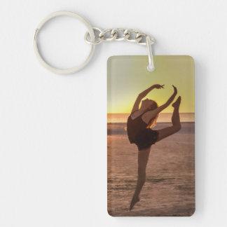 Ballet on the Beach Key Ring