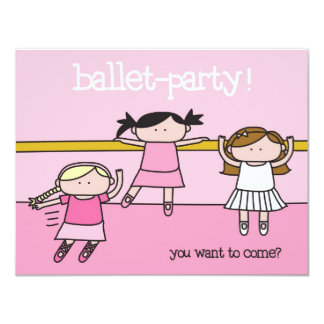 Ballet Party - Invitation