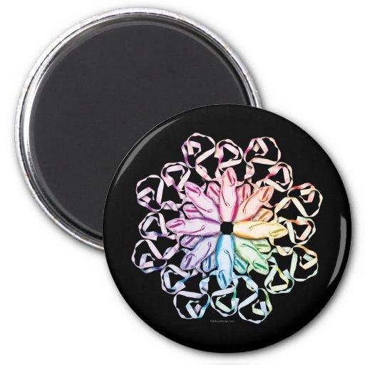 Ballet Pattern (spectral) Fridge Magnets