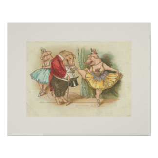 Ballet Pig Posters