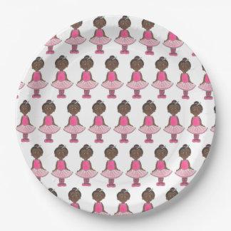 Ballet Pink Ballerina Tutu Dance Recital Dancer Paper Plate