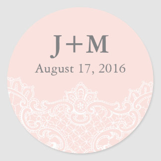 Ballet Pink Lace Wedding Sticker