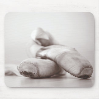Ballet Pointe Shoes on Dance Floor Template Mouse Pad