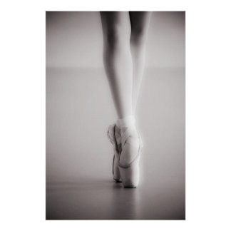 Ballet Pointe Shoes Sepia Dancing Slippers Posters