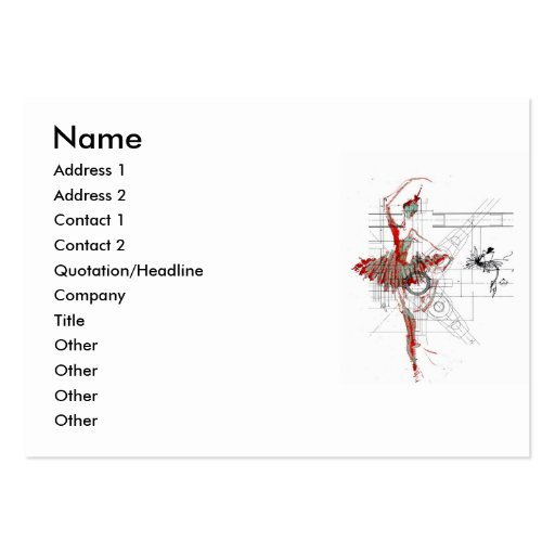 ballet profile business card template