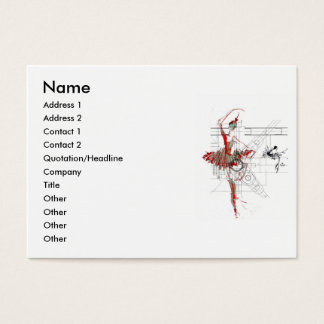 ballet profile business card