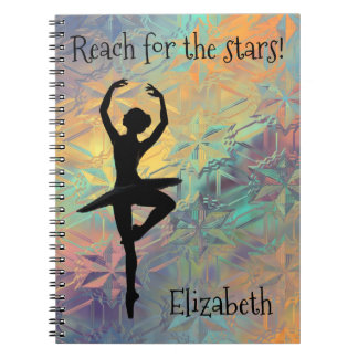 Ballet Reach for the Stars Custom Notebooks