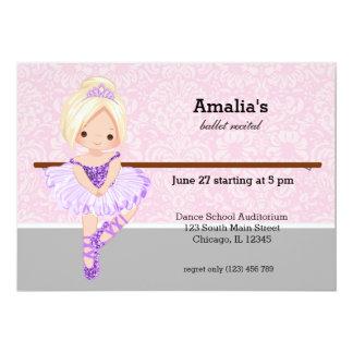Ballet Recital 13 Cm X 18 Cm Invitation Card