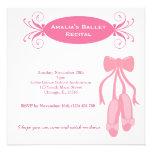 Ballet Recital Personalized Announcements