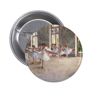 Ballet Rehearsal by Degas Pinback Button