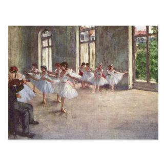 Ballet Rehearsal by Degas Postcard