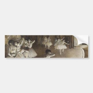 Ballet Rehearsal On Stage by Edgar Degas Bumper Sticker