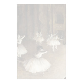 Ballet Rehearsal On Stage by Edgar Degas Stationery