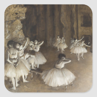 Ballet Rehearsal On Stage by Edgar Degas Stickers