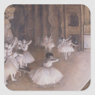 Ballet Rehearsal on the Stage 1874 Square Stickers