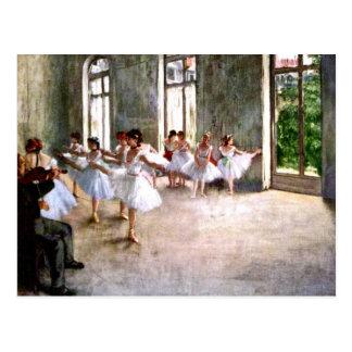Ballet Rehearsal Postcard