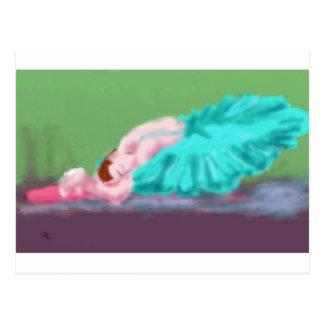 Ballet Resting Art Postcard