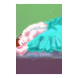 Ballet Resting Art Stationery Design