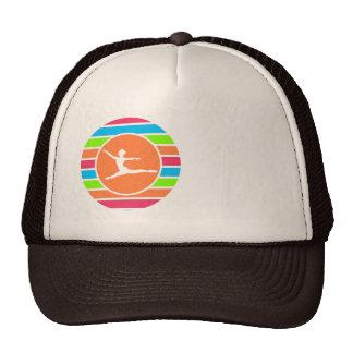 Ballet; Retro Neon Rainbow Trucker Hats