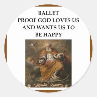ballet round sticker