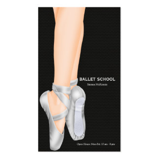 Ballet School Double-Sided Standard Business Cards (Pack Of 100)