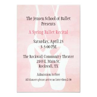 Ballet School Dance Recital Invitation