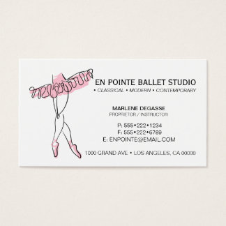 Ballet School Instruction Dance Business Card