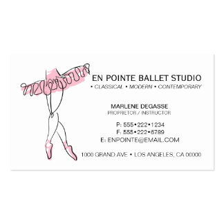 Ballet School Instruction Dance Pack Of Standard Business Cards