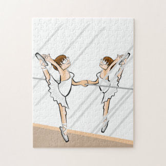 Ballet shoe of Ballet dancing in front of the Jigsaw Puzzle