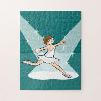 Ballet shoe of Ballet dancing under the lights Jigsaw Puzzle