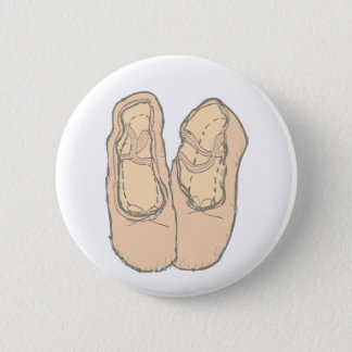 Ballet shoes 6 cm round badge