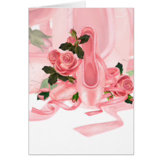 BALLET SHOES DANCE NOTE Card