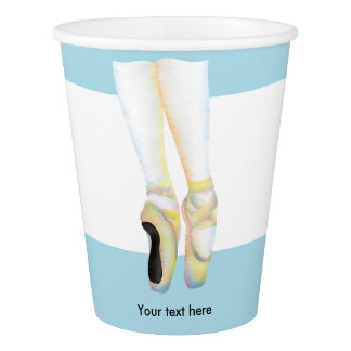 Ballet Shoes Illustration Paper Cup