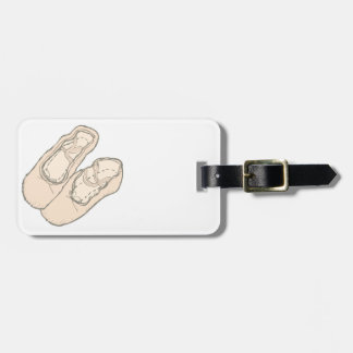 Ballet shoes luggage tag