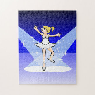 Ballet shoes of Ballet dancing under the lights Jigsaw Puzzle