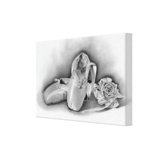Ballet shoes Wrapped Canvas Stretched Canvas Print
