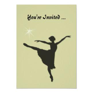 Ballet Silhouette  Invitation