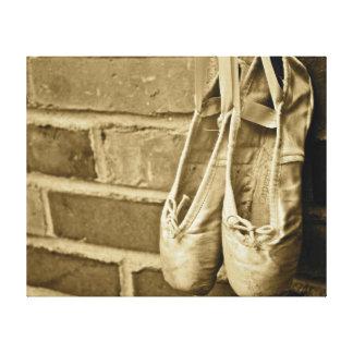 ballet slippers canvas print
