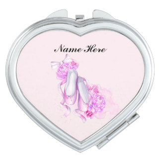 Ballet Slippers Compact Mirrors