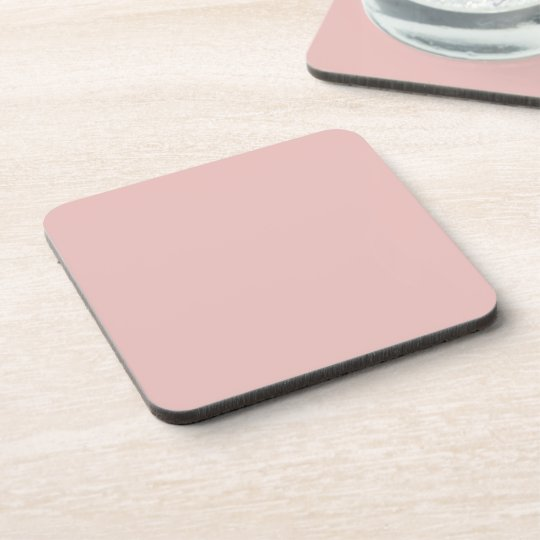 Ballet Slippers Pink Solid Colour Coaster