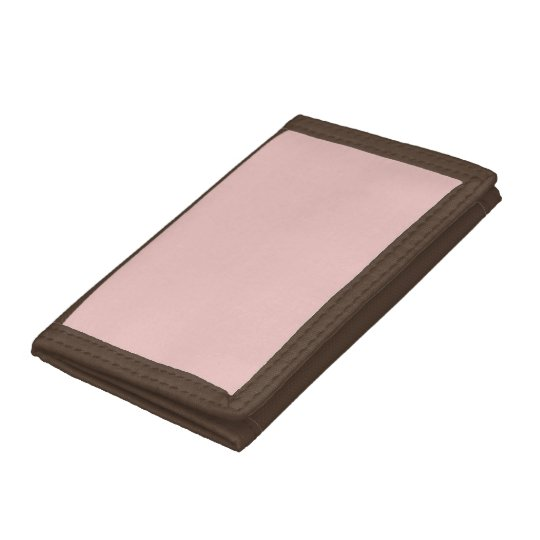 Ballet Slippers Pink Solid Colour Trifold Wallet