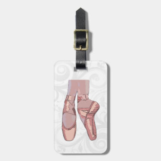 Ballet Slippers Toe Shoes Luggage Tag