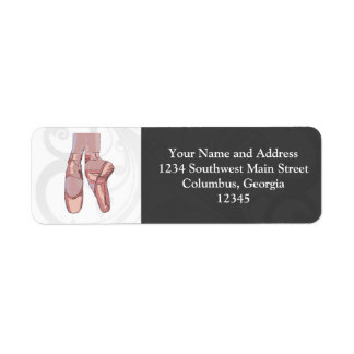 Ballet Slippers Toe Shoes Return Address Label