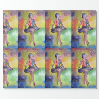 Ballet Space Art Glossy Wrapping Paper