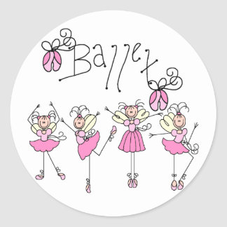 Ballet T-shirts and Gifts Classic Round Sticker