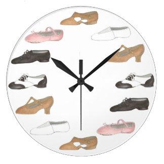 Ballet Tap Jazz Lyrical Acro Shoes Dance Studio Large Clock