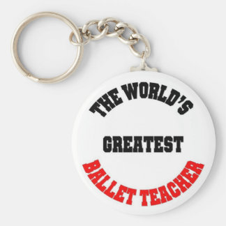 Ballet Teacher Key Ring