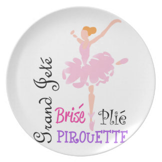 BALLET TERMS PLATE